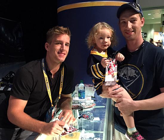 2016-NHL-Draft-Upper-Deck-First-Niagra-Buffalo-Noah-Hanifin-Autograph-Signing