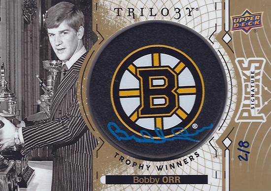 2017-18-Upper-Deck-NHL-Trilogy-Autograph-Pucks-Bobby-Orr