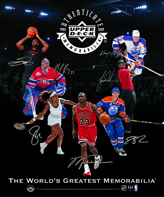 """Right when you walk in the I-X Center in Cleveland, Ohio for the 2018 National Sports Collectors Convention, you'll be greeted by a massive banner touting Upper Deck's exclusive spokespeople that shows off their signature style. Make sure to grab a picture in front of it and share it with us on social media during the show using the hashtag #NSCC. Only Upper Deck can bring you authentic signatures of these iconic athletes. Upper Deck's spokesmen will also be displayed prominently at the company's corporate booth (#343). Make sure you stop by for a variety of exciting events throughout the weekend! If you do take part in Upper Deck's wrapper redemption programs, make sure to ask for an Upper Deck Fun Gauge! With this nifty device, you'll be able to share how much fun you are having at the show! Are you just arriving at the Upper Deck booth? Post it to Medium. Did you pull something awesome from Upper Deck Authenticated's Monumental product? Post it to high. Is it time to leave the National Sports Collectors Convention? Post it to low. When you do head back to your hotel, Upper Deck will be there too! Upper Deck is the exclusive provider of collectible hotel keys for the 2018 National Sports Collectors Convention. You can find collectible keys of some of Upper Deck's most beloved spokespeople at these hotels in the Cleveland, Ohio area: Cleveland Airport Marriott  Sheraton Cleveland Airport  Four Points by Sheraton Airport  Hilton Garden Inn Airport  Courtyard Airport South  Crowne Plaza Middleburg Heights  Hampton Inn Middleburg Heights  Sonesta Suites Middleburg Heights  Townplace Suites Middleburg Heights  Aloft Cleveland Airport  Hampton Inn North Olmsted  Radisson Airport  La Quinta North Olmsted  Hyatt Place Independence  Cleveland Marriott Downtown at Key Center Holiday Inn Strongsville Here's a look at the keys you can collect!  Thanks to all our fans for making Upper Deck the """"Collector's Choice"""" and we look forward to visiting with you in Cleveland!"""