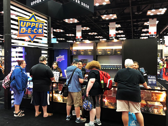 upper deck gen con booth games legendary purchase fans gamers
