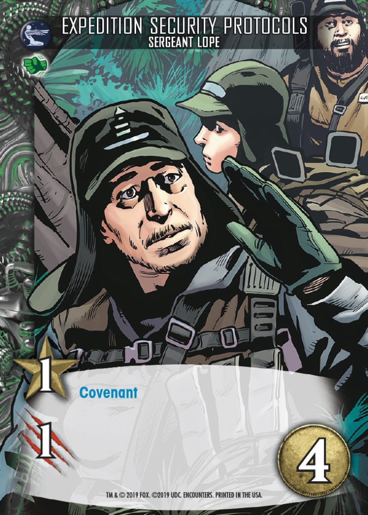 Legendary Encounters Alien Covenant Sergeant Lope Expedition Security Protocols