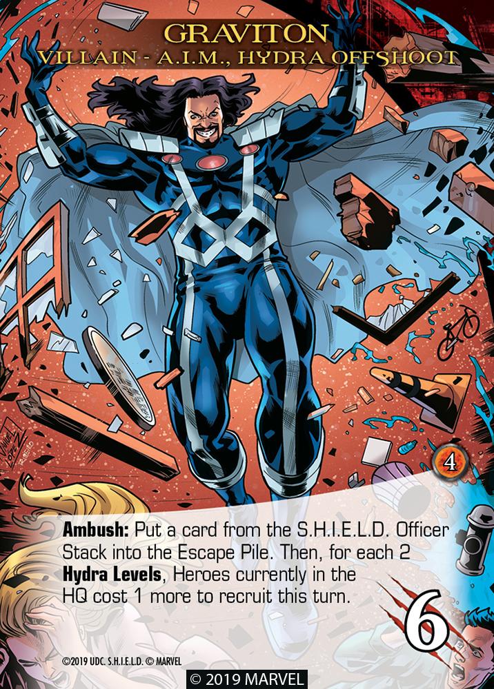 Legendary Shield Villain Graviton A.I.M Hydra Offshoot