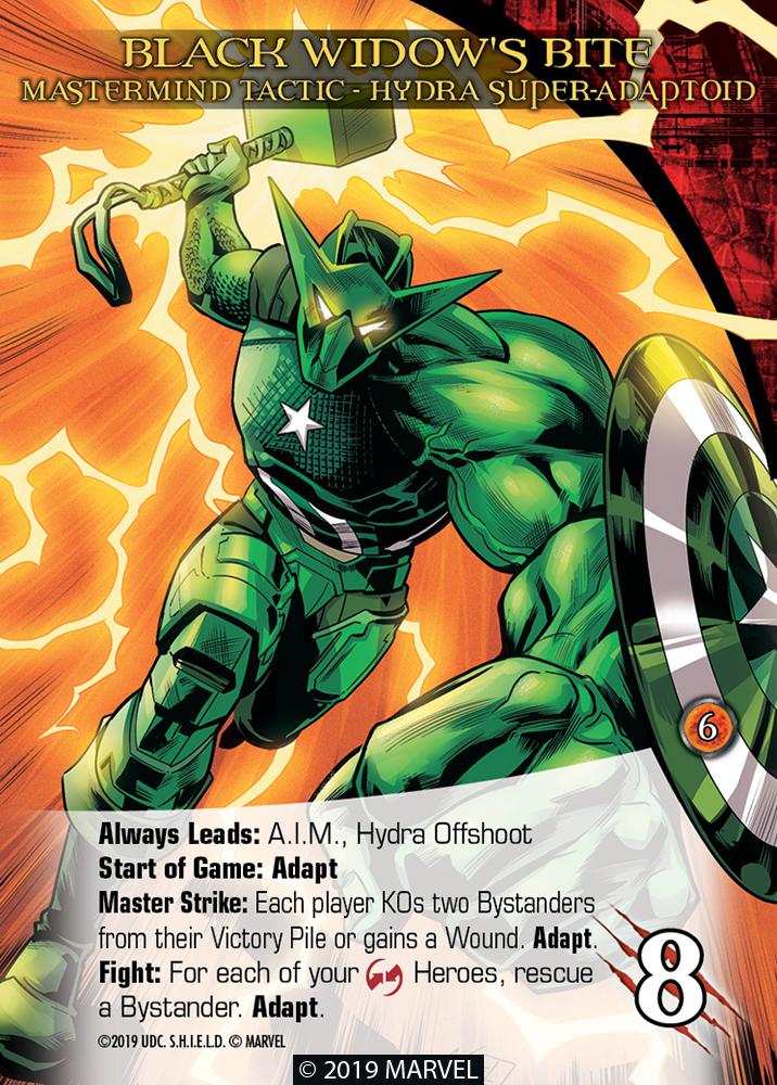 Legendary Shield Mastermind Tactic Black Widow's Bite Hydra Super-Adaptoid