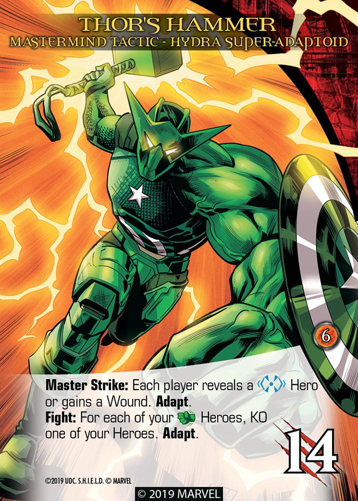 Legendary Shield Mastermind Tactic Thor's Hammer Hydra Super-Adaptoid