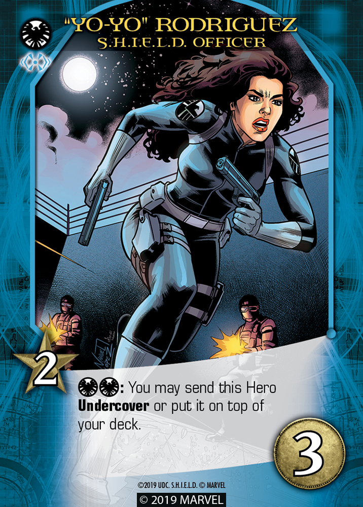 "Legendary Shield Hero ""Yo-Yo"" Rodriguez S.H.I.E.L.D. Officer"