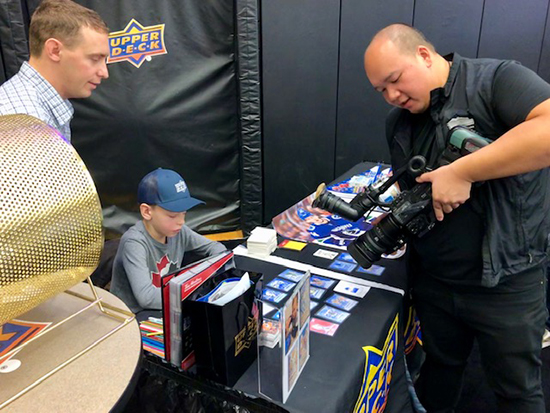 upper deck kid artist owen custom cards hand-drawn sketch nhl hockey tim hortons