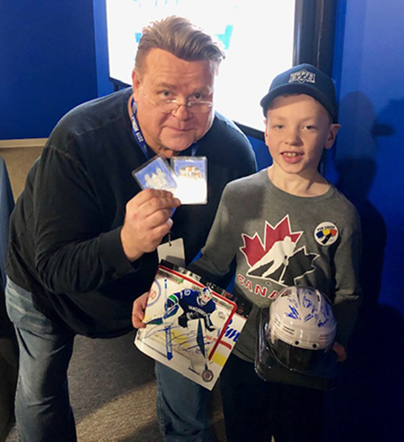 upper deck card artist kid owen hockey nhl fan engagement fun