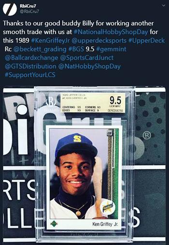 upper deck trade baseball card griffey rookie