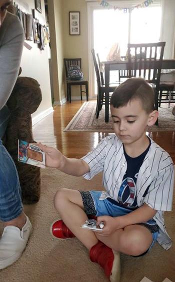 upper deck random acts kindness kid birthday boy surprise allure nhl cards