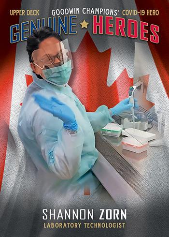 upper deck genuine heroes covid 19 coronavirus labaratory technician