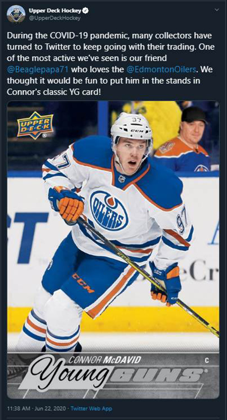 upper deck fathers day get your dad in the game promotion nhl hockey card