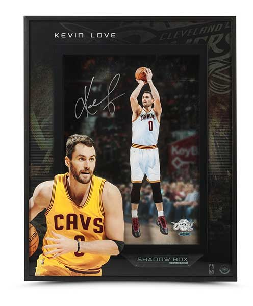 """Kevin Love Autographed Stretch 4 16"""" x 20"""" Shadow Box"""
