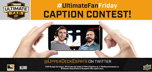 upper deck overwatch league caption contest promotion collect cards fun win funny