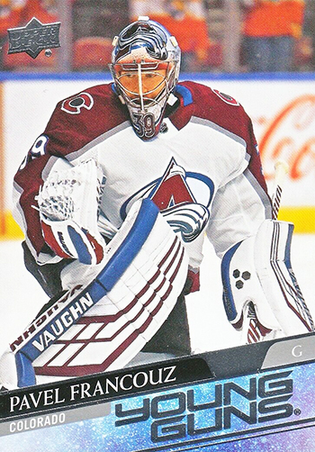 2020-21 nhl upper deck series one young guns pavel francouz