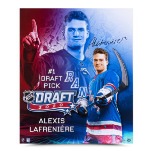 Alexis Lafrenière Draft Day - Upper Deck Authenticated Memorabilia
