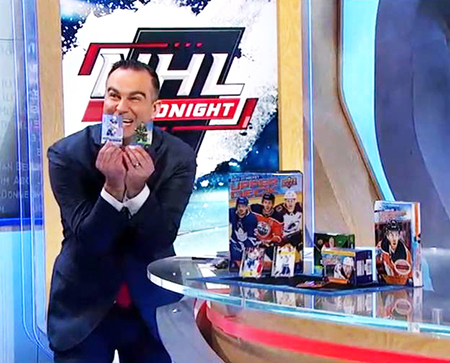 upper deck unwrap nhl network trading cards host