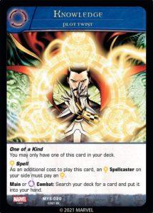 2-2021-upper-deck-vs-system-2pcg-marvel-mystic-arts-plot-twist-spell-knowledge