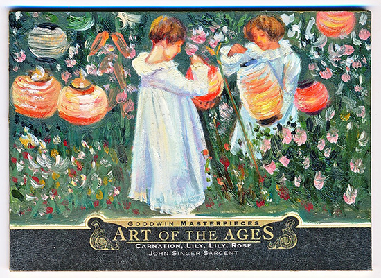 2013 goodwin champions art of the ages lily carnation card