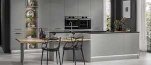 Howdens Hockley Super Matt Slate Grey Modern Kitchen