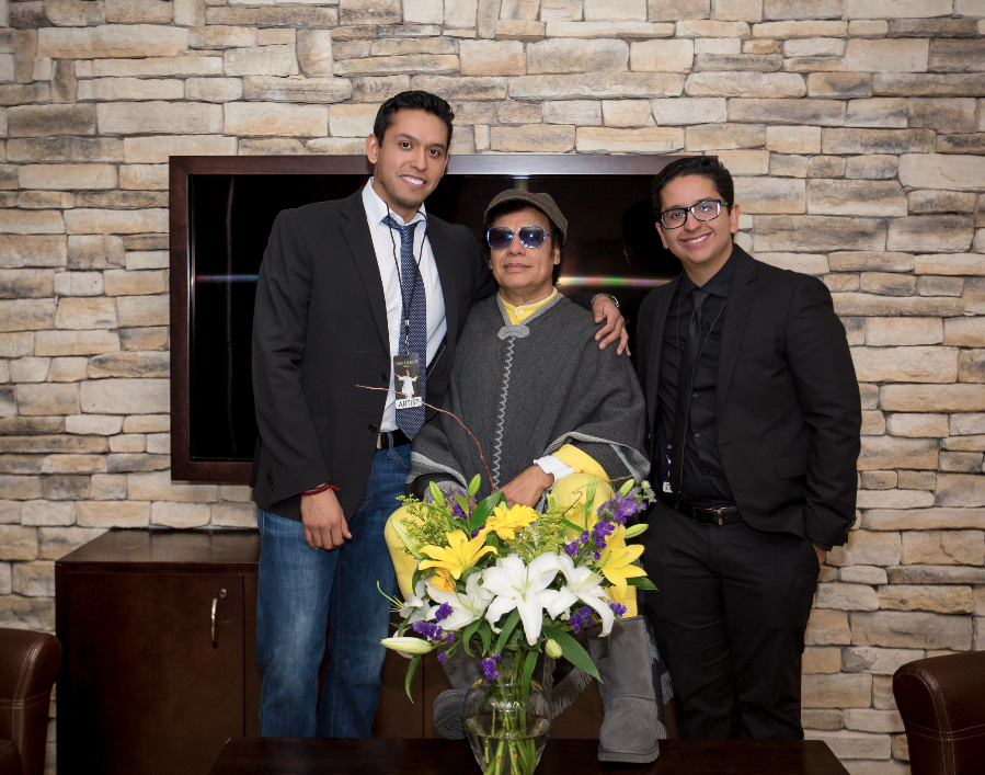 Jean Gabriel Aguilera with his father Juan Gabriel and his brother Ivan Aguilera