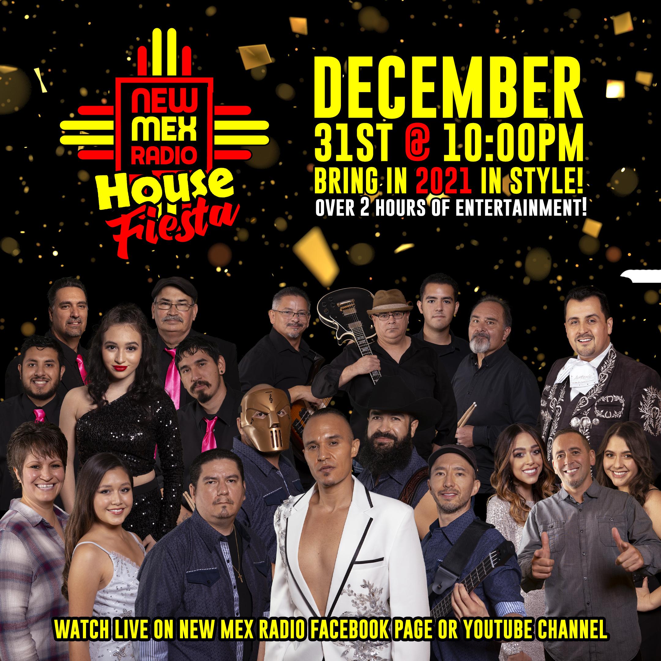 New Mex Radio House Fiesta Poster