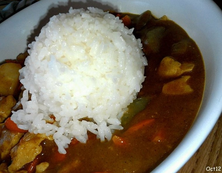chicken curry w: rice