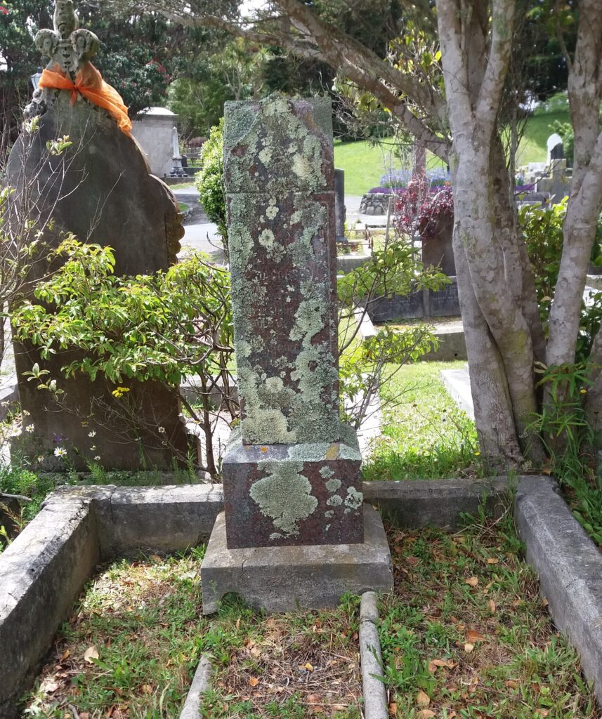 Nairn's burial site at Karori Cemetery