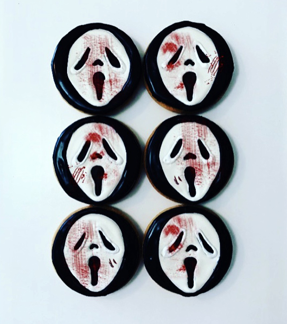 ghostface shortbread cookies