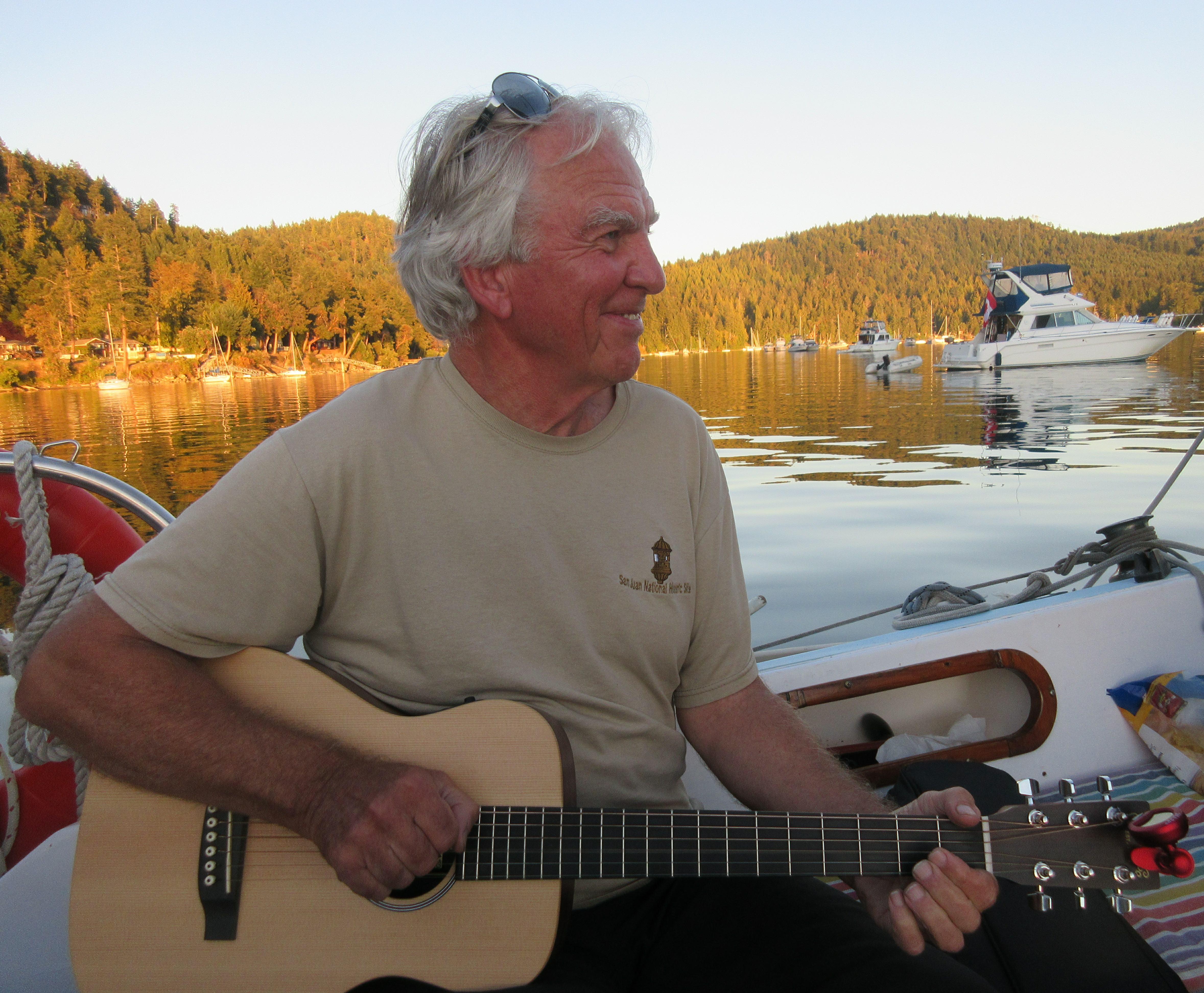 Aboard the Blue Rose, Montague Harbour, August 2016