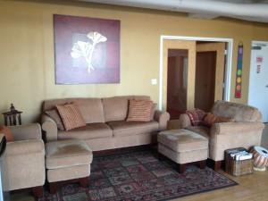 Prairie Sunshine Yoga Studio Seating