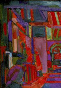 Coffee Bar, by John Hoyland, 1955.
