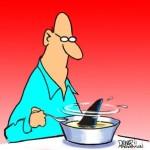 Shark fin soup cartoon
