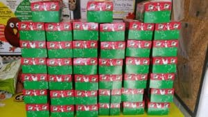 Every fall we assemble shoebox gifts for needy children around the world.