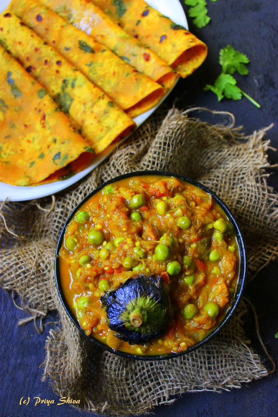 Baingan Bharta, aubergine curry, eggplant curry