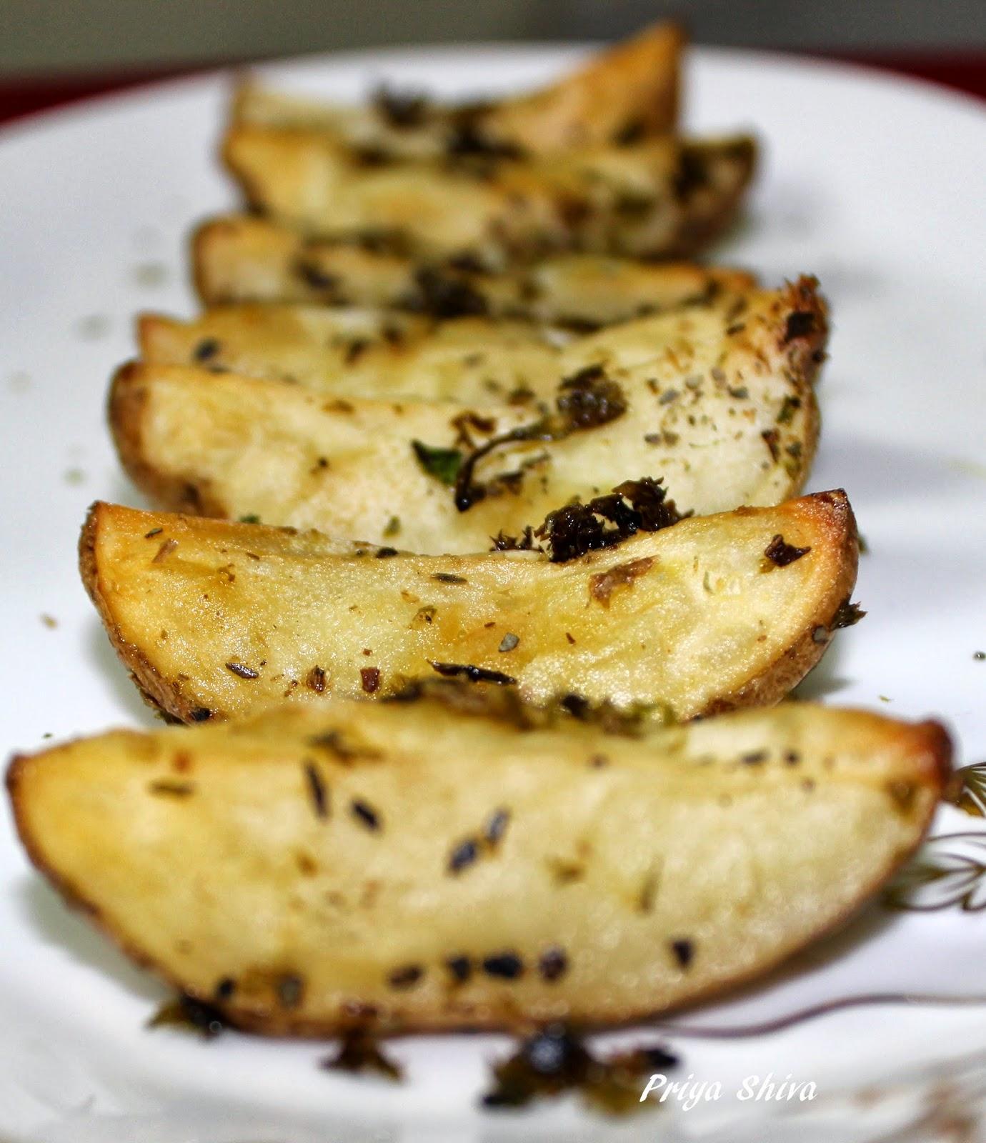 baked parsley potato