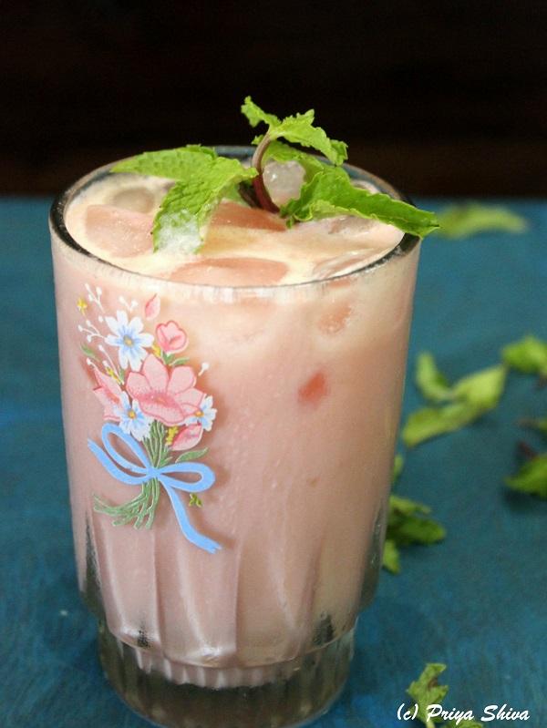 watermelon mint sweet lassi recipe