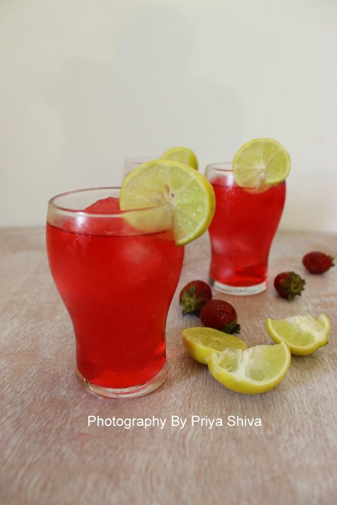 strawberry lemonade, mocktail
