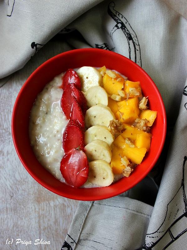 Oats Chia Seeds Breakfast bowl recipe