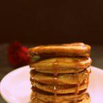 eggless Salted Caramel Coconut Banana Pancakes