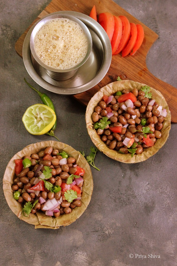 boiled peanuts chaat