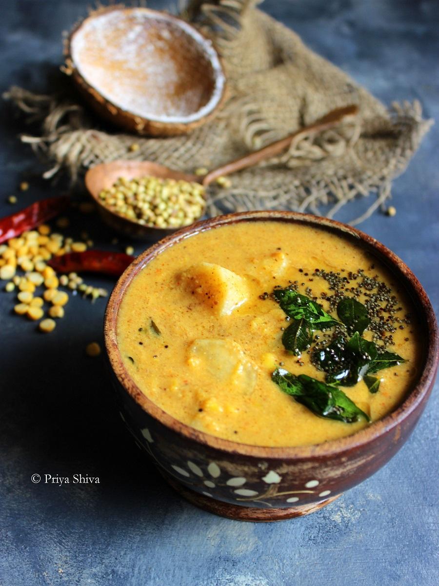 Arachuvitta Mullangi Sambar - radish sambar