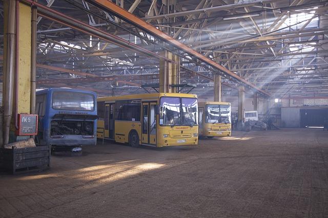 Bus repair shop
