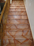 Amaretto Drift Marble, Stairs - After