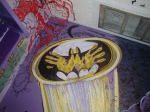 Batman bathroom mural