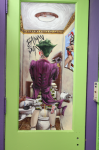 The Joker door mural