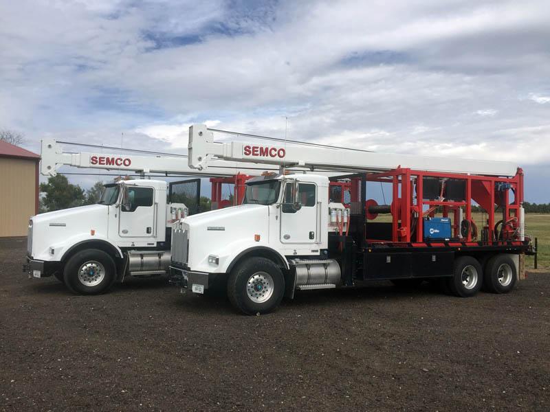 (2) 2014 SEMCO S30,000 Pump Hoists - Ea w/20K Miles