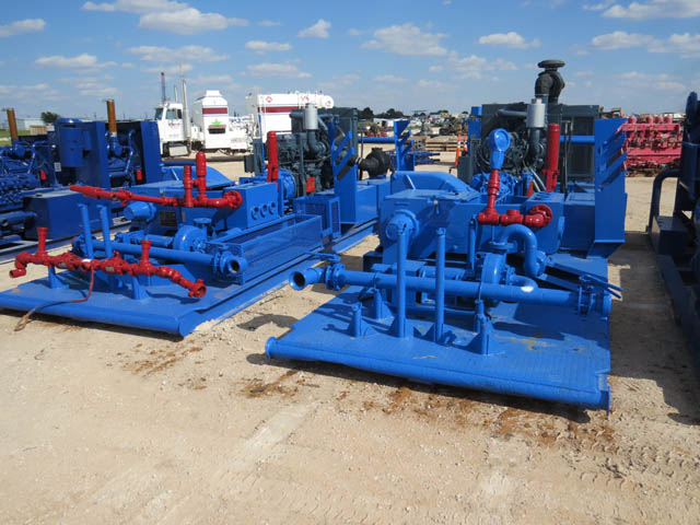 (2) NATIONAL JWS 340 Triplex Pumps - D1 YD1