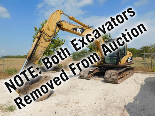 Excavators Removed From Auction