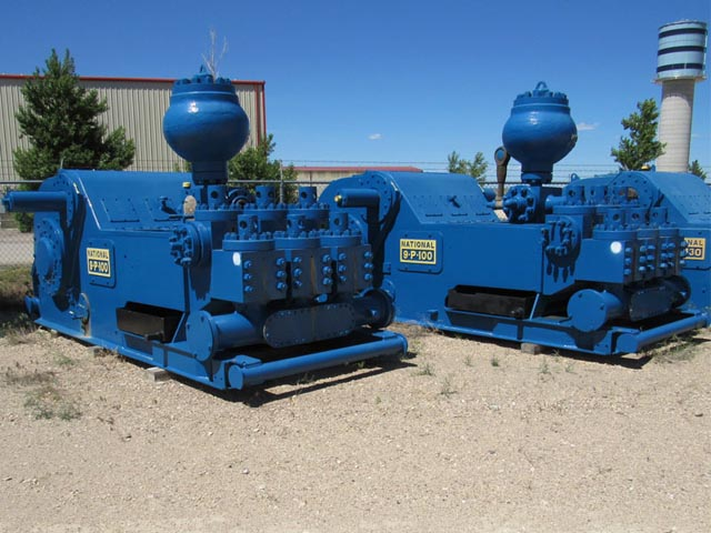 (2) NATIONAL 9-P-100 Pumps – DY1 YD2