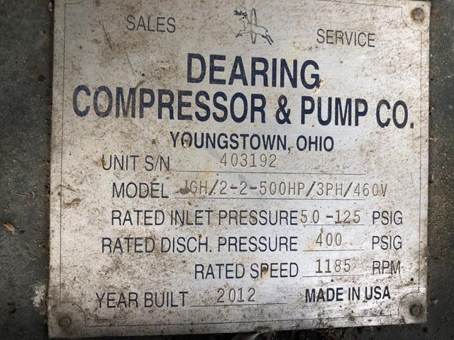 Natural Gas Compressor Plate